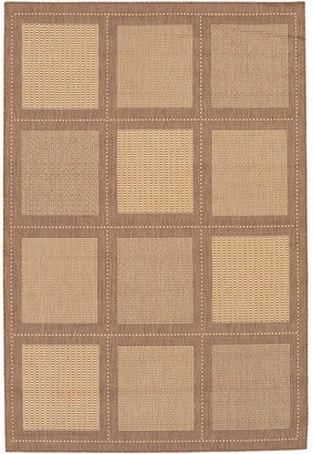 "Couristan Closeout! Area Rug, Recife Indoor/Outdoor Summit/Natural-Cocoa 1043/3000 2'3"" x 11'9"" Runner"