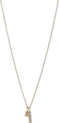 Minor Obsessions Diamond #1 Pendant Necklace-Colorless