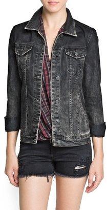 MANGO Outlet Studded Eagle Denim Jacket