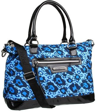 Betsey Johnson Cheetah Boom Boom Satchel (Blue) - Bags and Luggage