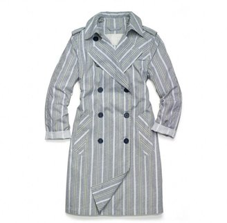 Coach Heritage Stripe Featherweight Trench