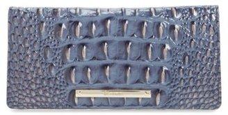 Women's Brahmin 'Ady' Croc Embossed Continental Wallet - Blue $95 thestylecure.com