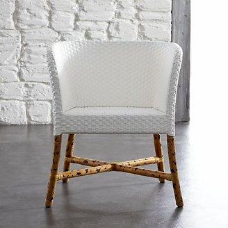 Crate & Barrel Como White Woven Chair.
