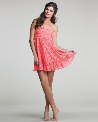 Betsey Johnson Petticoat Strapless Cover Up