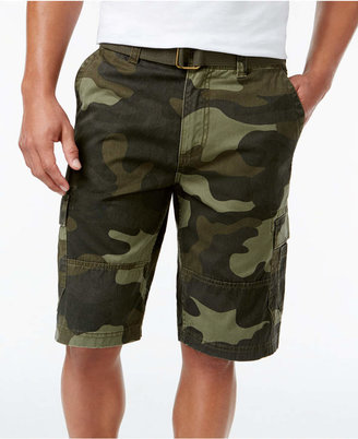 fa5b5b1aa American Rag Men Belted Relaxed Cargo Shorts