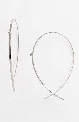 Women's Lana Jewelry 'Flat Upside Down' Diamond Hoop Earrings $610 thestylecure.com