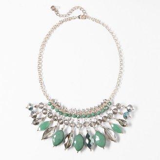 Vera Wang Simply vera gold tone bead bib statement necklace