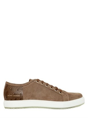 Marc Jacobs Suede & Leather Print Sneakers