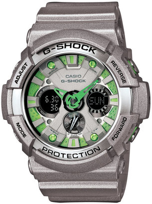 G-Shock Men's Analog-Digital Silver Resin Strap Watch 55x53mm GA200SH-8
