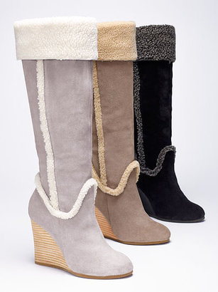 Victoria's Secret Collection Shearling Wedge Boot