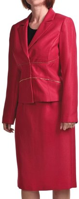 Isabella Collection Textured Dobby Suit (For Women)