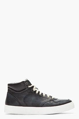 Diesel Navy Leather Invasion Top Sneakers