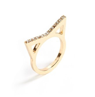BaubleBar Feline Triad Ring