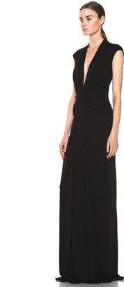 Issa Silk Maxi Dress in Black