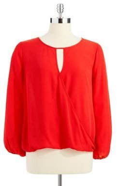 Vince Camuto Petite Solid Colored Top with Bell Sleeves