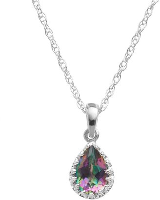Tiara Sterling Silver Rainbow Quartz Teardrop Pendant