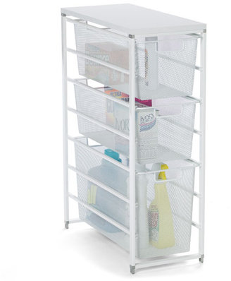 Elfa White Mesh Laundry Storage