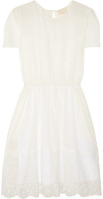 Band Of Outsiders Lace-trimmed cotton-cheesecloth dress