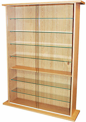 Large Display Media Cabinet - Beech