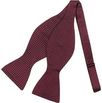 Forzieri Polkdot Silk Self-tie Bowtie