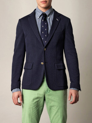 Gant Unconstructed single-breasted blazer