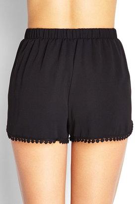 Forever 21 Crochet Detail Woven Shorts