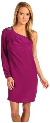 Trina Turk Odelle One-Shoulder Dress (Orchid) - Apparel