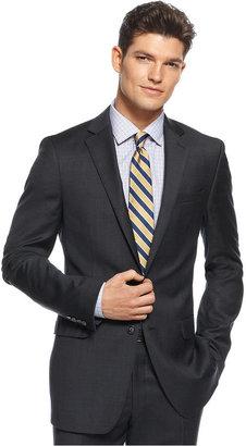 Calvin Klein X Suit, Black Tonal Plaid Slim Fit