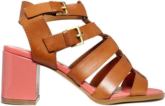 Kelsi Dagger Carmen Gladiator Mid Heel Sandals