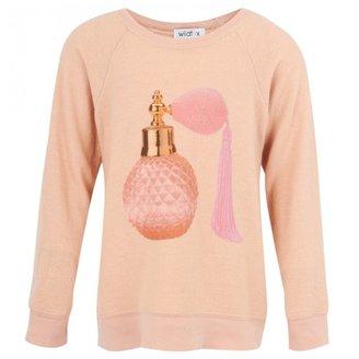 Wildfox Couture Pink Perfume Print Sweatshirt