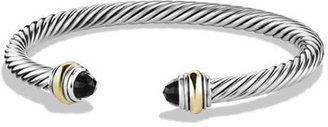 David Yurman Color Classic Bracelet with Onyx and Gold $625 thestylecure.com