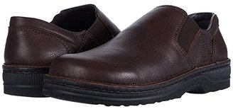 Naot Footwear Eiger (Black Textured Leather) Men's Slip on Shoes
