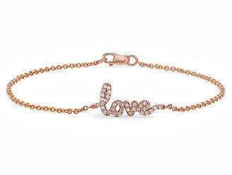 Avanessi Diamond Love Bracelet in Rose Gold