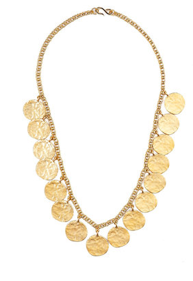 Kenneth Jay Lane Gold Coin Chain Necklace