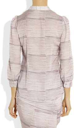 See by Chloe Printed crepe de chine blouse