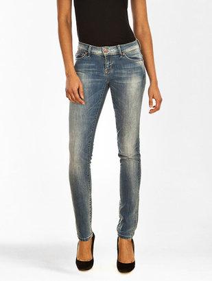 Only Jeans Skinny Low Coral Skinny Bleu Délavé