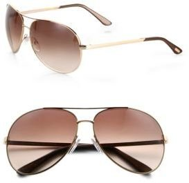 Tom Ford Charles 62MM Aviator Sunglasses/Rose Gold
