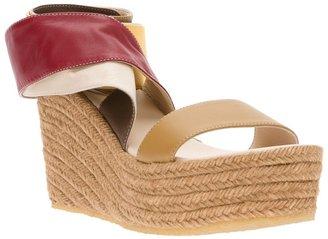 Chloé raffia sandal