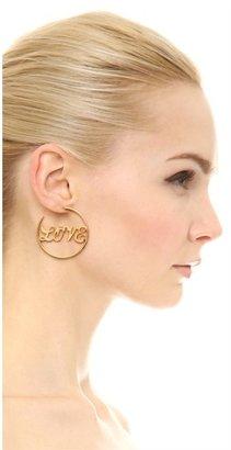Juicy Couture Love Hoop Earrings