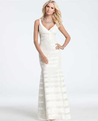 Ann Taylor Silk Georgette Mermaid Wedding Dress