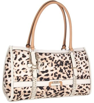GUESS Caytie E/W Satchel (White) - Bags and Luggage