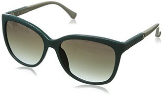 Calvin Klein Women's 3152SL Rectangular Sunglasses,Blue,16mm