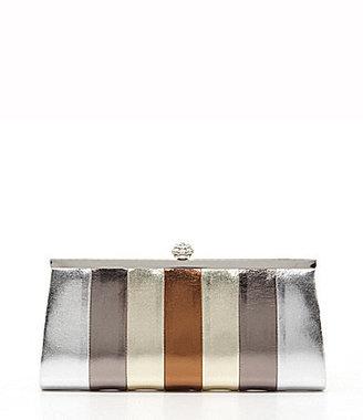 Kate Landry Social Multi Stripe Frame Clutch