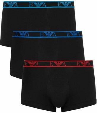 Emporio Armani Loungewear Stretch-cotton Boxer Briefs - Set Of Three