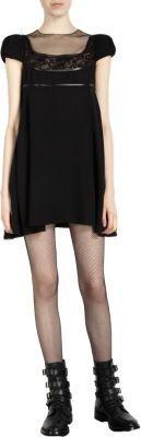 Saint Laurent Puff Shoulder Babydoll Dress