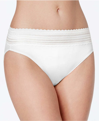 Warner's No Pinching No Problems Lace Hi-Cut Brief 5109 $11.50 thestylecure.com