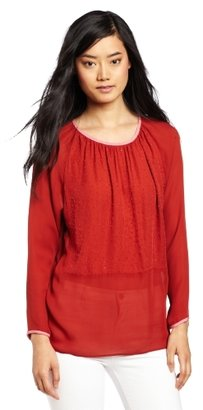 Cynthia Rowley Women's Beaded Tweed Silk Blouse