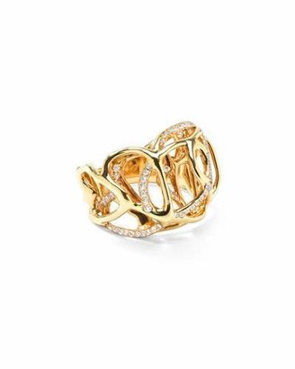 Ippolita Drizzle 18k Gold Diamond Rounded-Cutout Ring