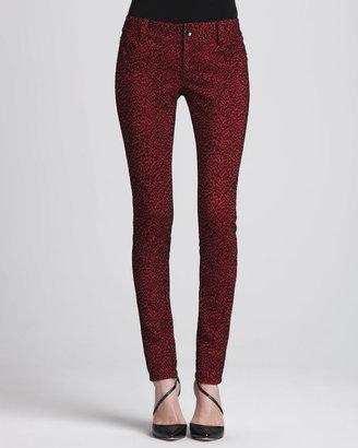Alice + Olivia Animal-Print Skinny Jeans