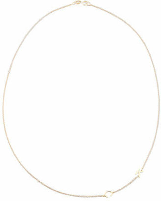 Maya Brenner Designs Mini 2-Letter Personalized Necklace, 14k Yellow Gold $300 thestylecure.com